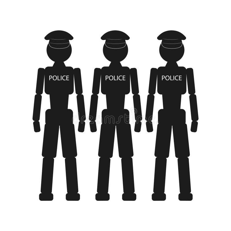 Milicyjni roboty ilustracja wektor