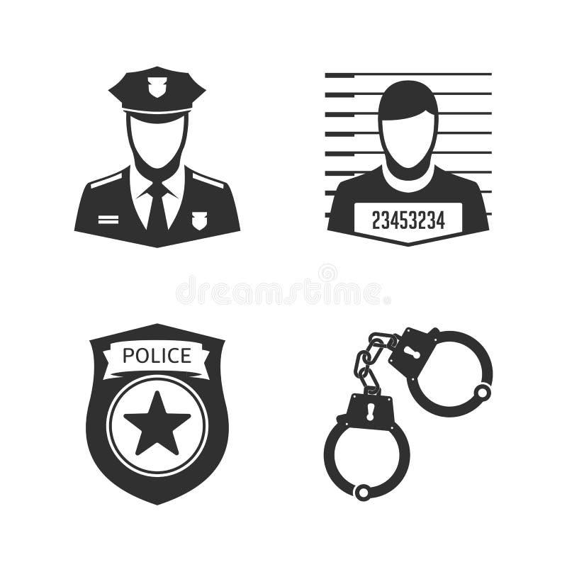Milicyjny ikona set ilustracja wektor