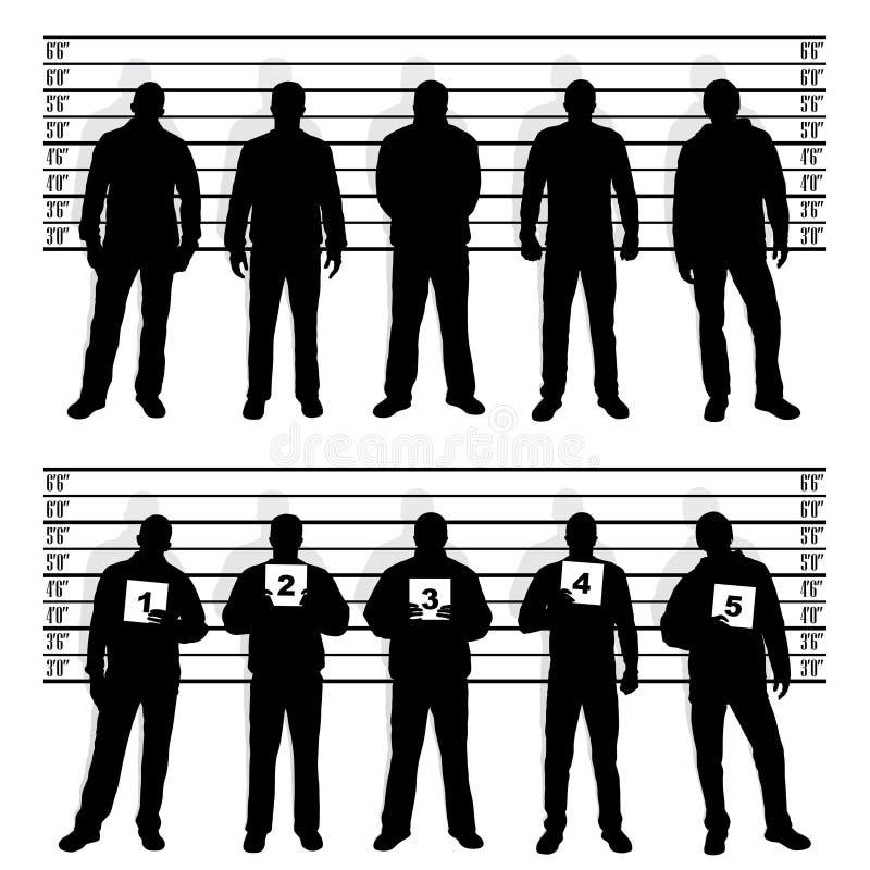 milicyjny kreskowe milicyjne sylwetki ilustracji