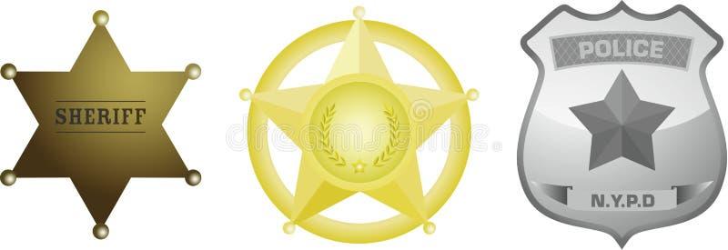 milicyjny odznaka szeryf ilustracji
