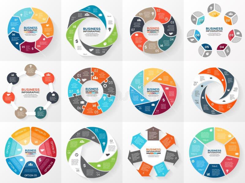 Milieu économique infographic, diagramme avec des options illustration libre de droits