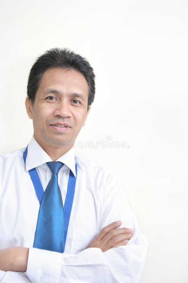 milieu asiatique d'homme d'affaires d'âge images stock