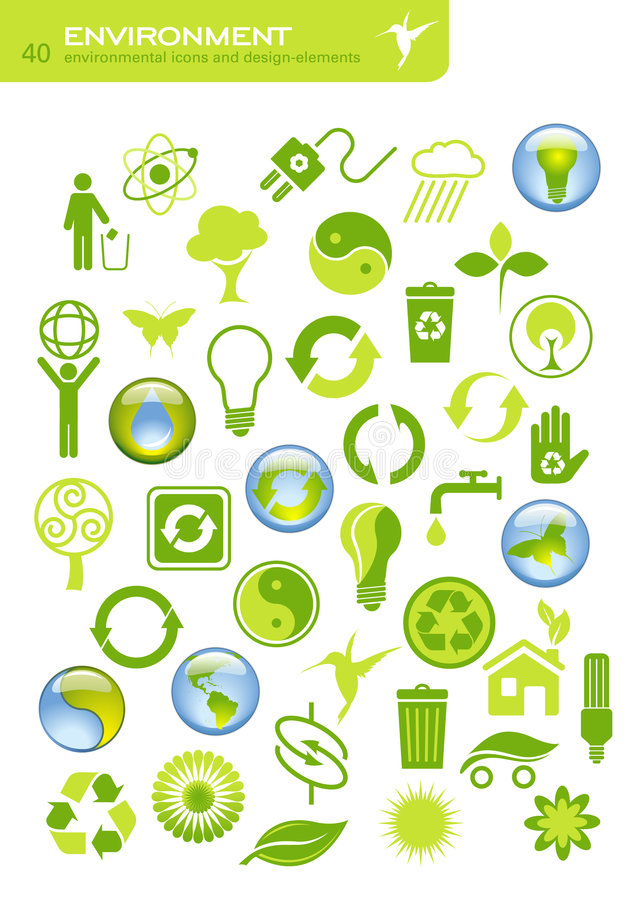 Milieu behoud vector illustratie