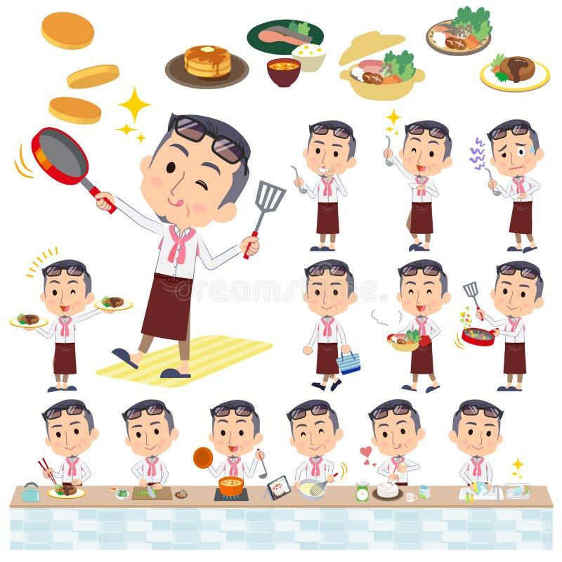 Milieu de producteur men_cooking illustration libre de droits