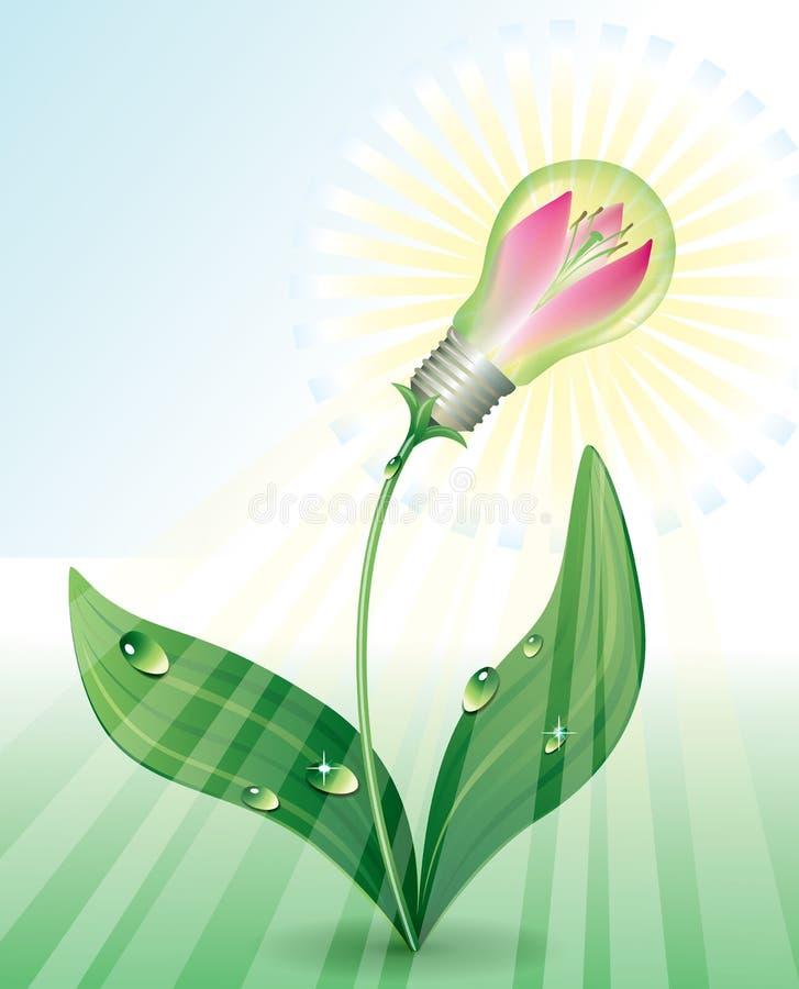 Milieu elektriciteit royalty-vrije illustratie