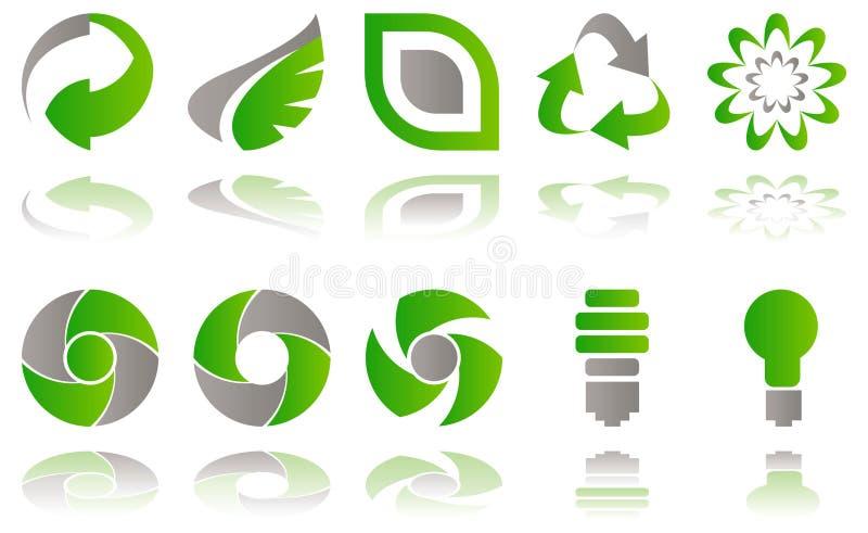Milieu pictogrammen royalty-vrije illustratie