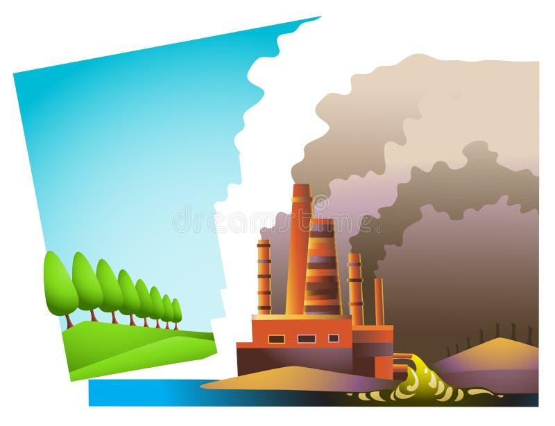 Milieu Spleet royalty-vrije illustratie