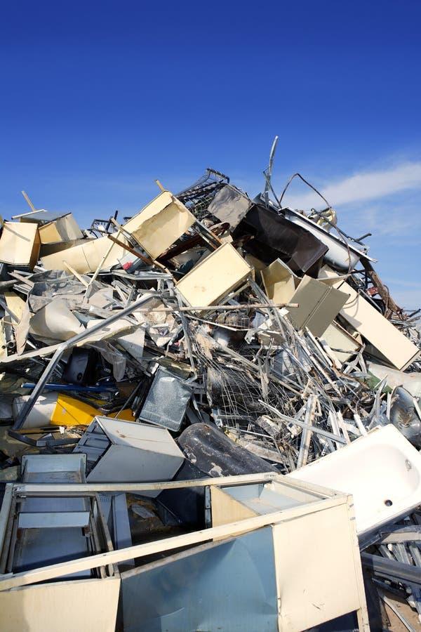 Milieu van de het schroot het kringloop ecologische fabriek van het metaal royalty-vrije stock foto
