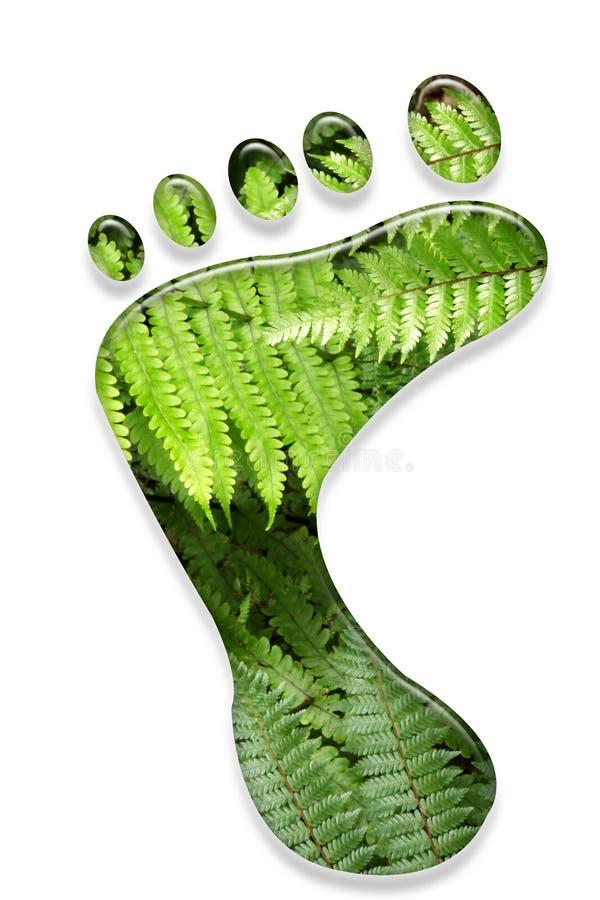 Milieu voetafdruk. stock afbeelding