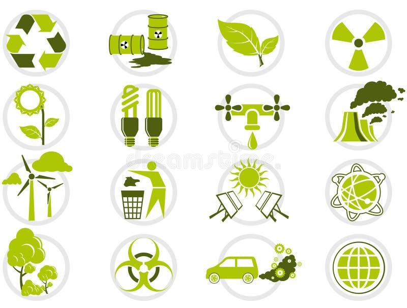 milieubescherming pictogramreeks royalty-vrije illustratie