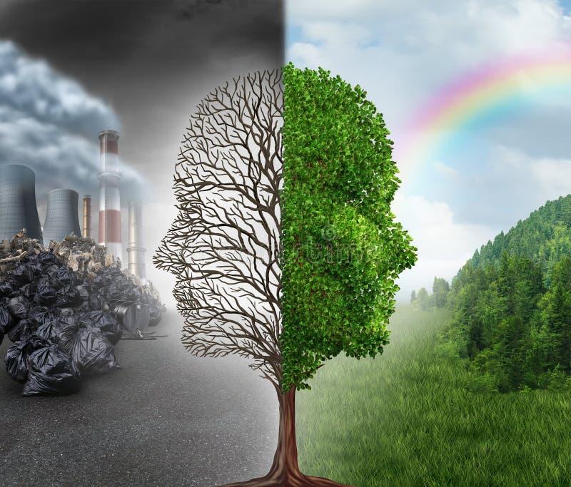 Milieuverandering stock illustratie