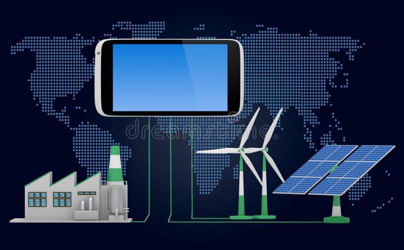 Milieuvriendelijk concept royalty-vrije illustratie