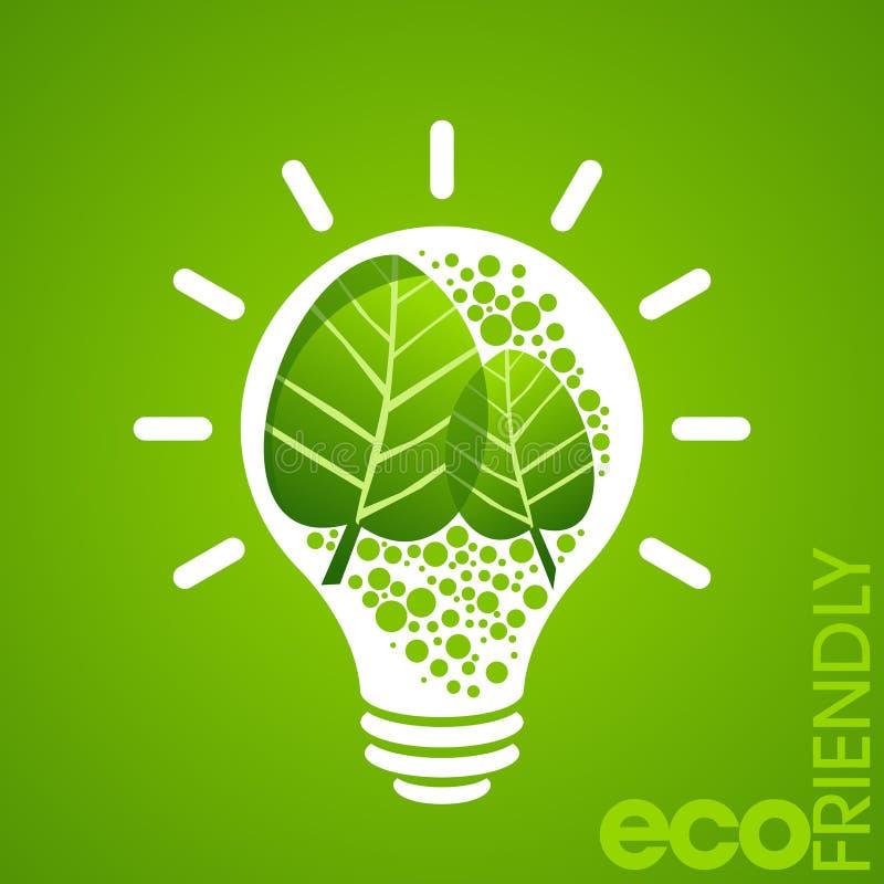 Milieuvriendelijk concept met macht stock illustratie
