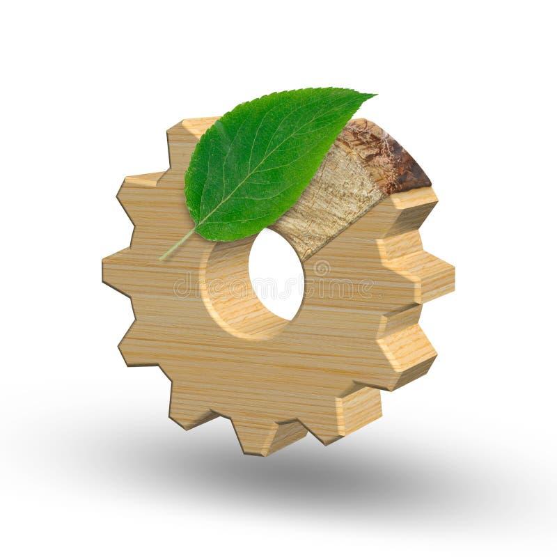 Milieuvriendelijk de industrie en milieubehoudsconcept 3D Illustratie royalty-vrije illustratie