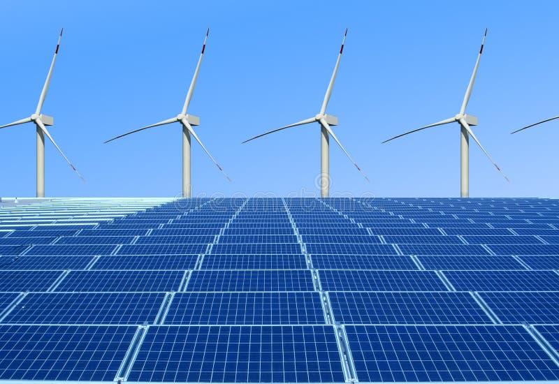 Milieuvriendelijke en vernieuwbare energie royalty-vrije stock foto