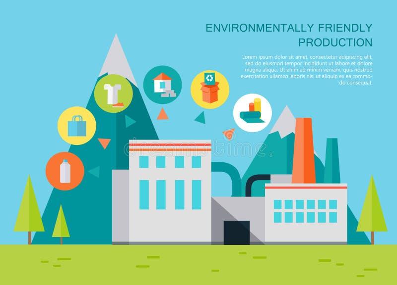 milieuvriendelijke productie stock illustratie