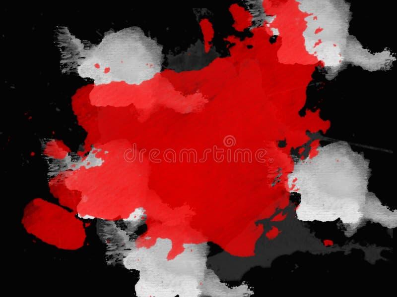 Milieux élégants dans le style grunge dans des couleurs noires et rouges illustration de vecteur