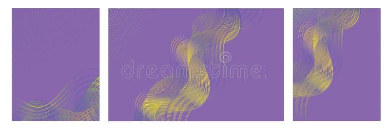 Milieux abstraits avec la conception colorée à la mode pour des brochures, des affiches, des présentations et des bannières illustration stock