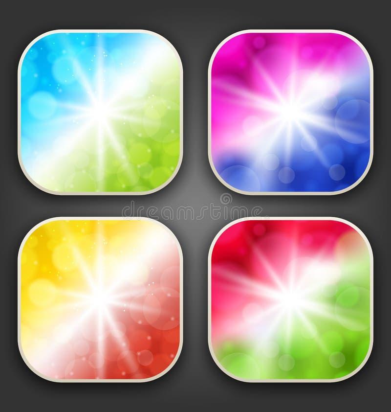 Milieux abstraits avec pour les icônes d'APP illustration stock