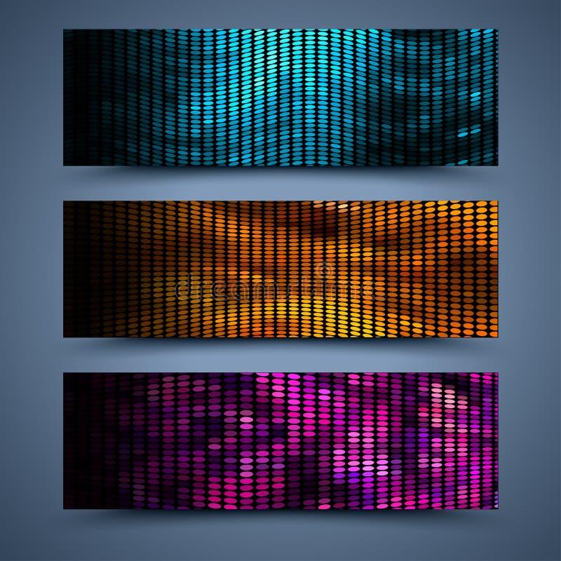 Milieux abstraits de bannières de couleur de vecteur illustration stock