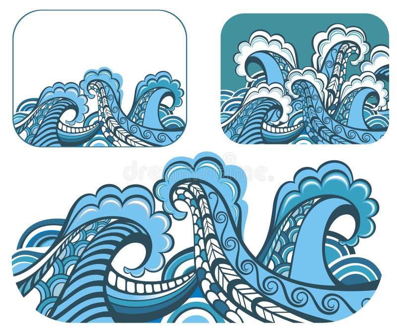 Milieux abstraits de l'eau illustration libre de droits