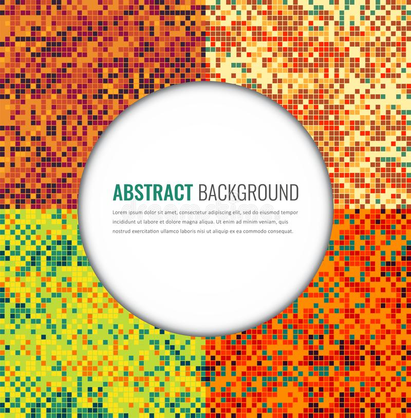 Milieux abstraits de pixel réglés Calibre de conception d'invitation de partie Vecteur illustration libre de droits