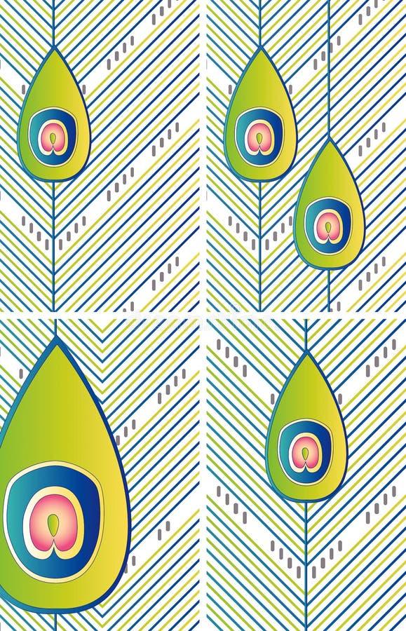 Milieux abstraits de plume illustration libre de droits