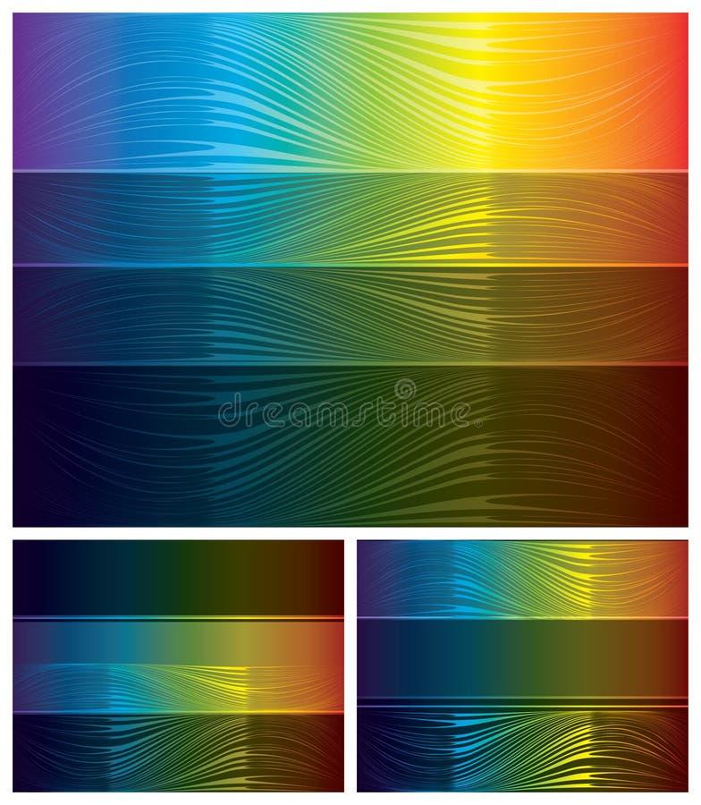Milieux Abstraits De Spectre Réglés Images libres de droits