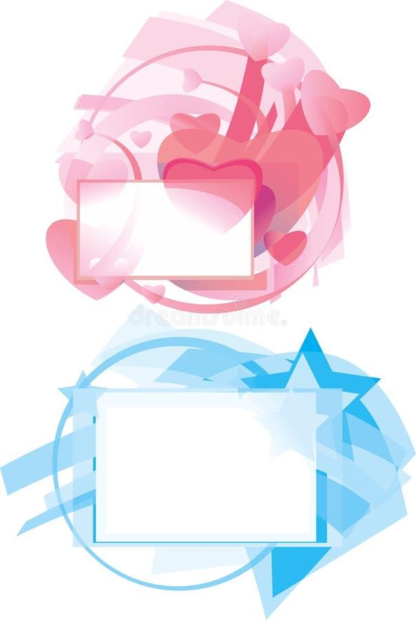 Milieux abstraits de vecteur illustration stock