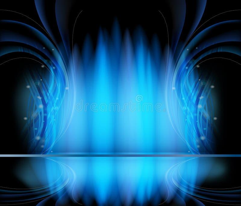 Milieux abstraits de vecteur bleus illustration stock