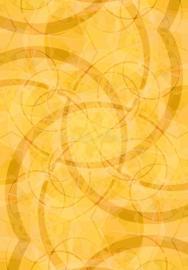 Milieux abstraits en or illustration de vecteur