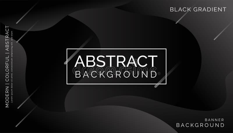Milieux abstraits noirs, milieux colorés modernes, milieux abstraits dynamiques illustration stock