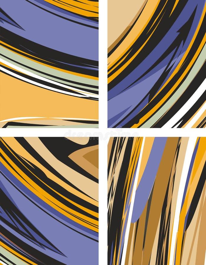 Milieux abstraits réglés illustration stock