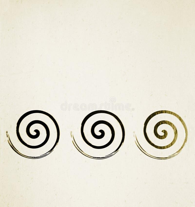 Milieux avec des spirales illustration de vecteur