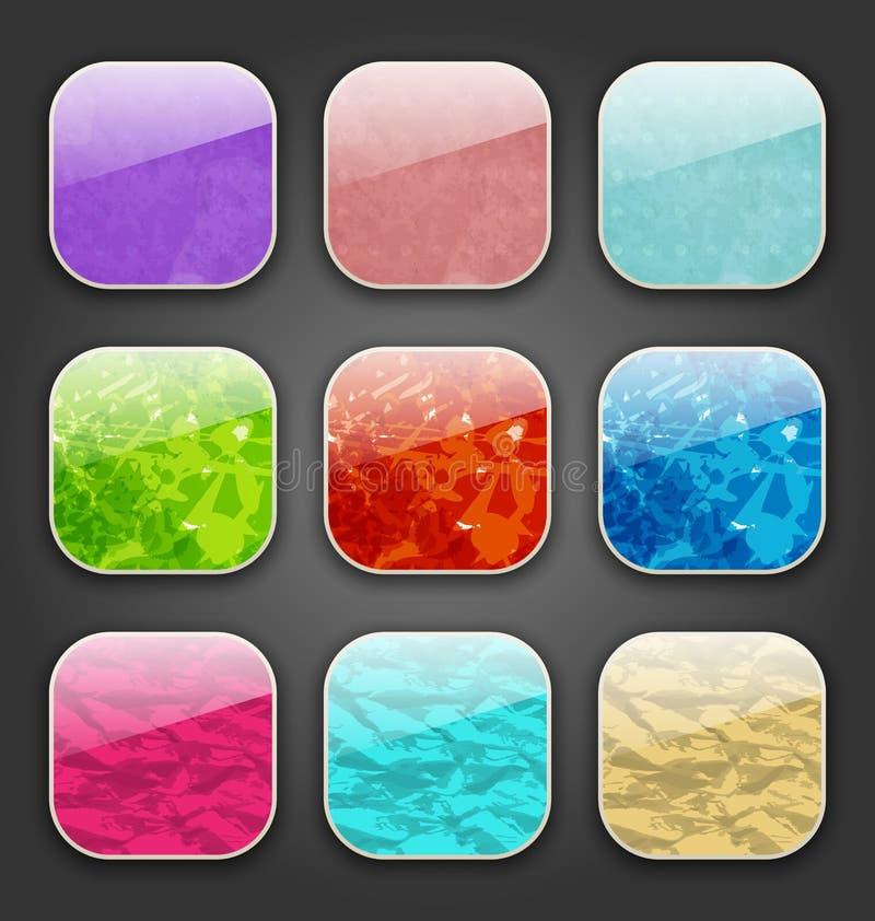 Milieux avec la texture grunge pour les icônes d'APP illustration libre de droits