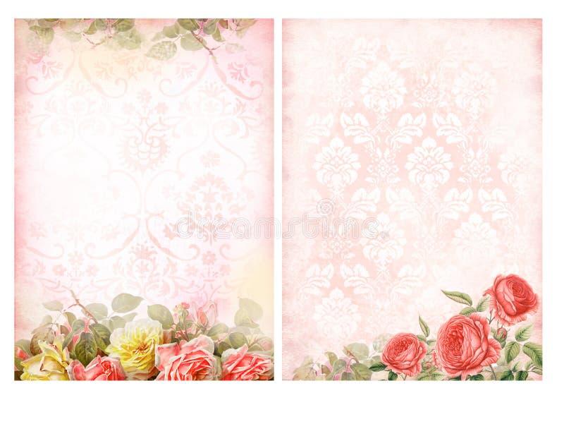 Milieux chics minables avec des roses illustration stock