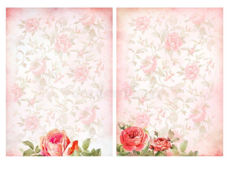 Milieux chics minables avec des roses illustration de vecteur