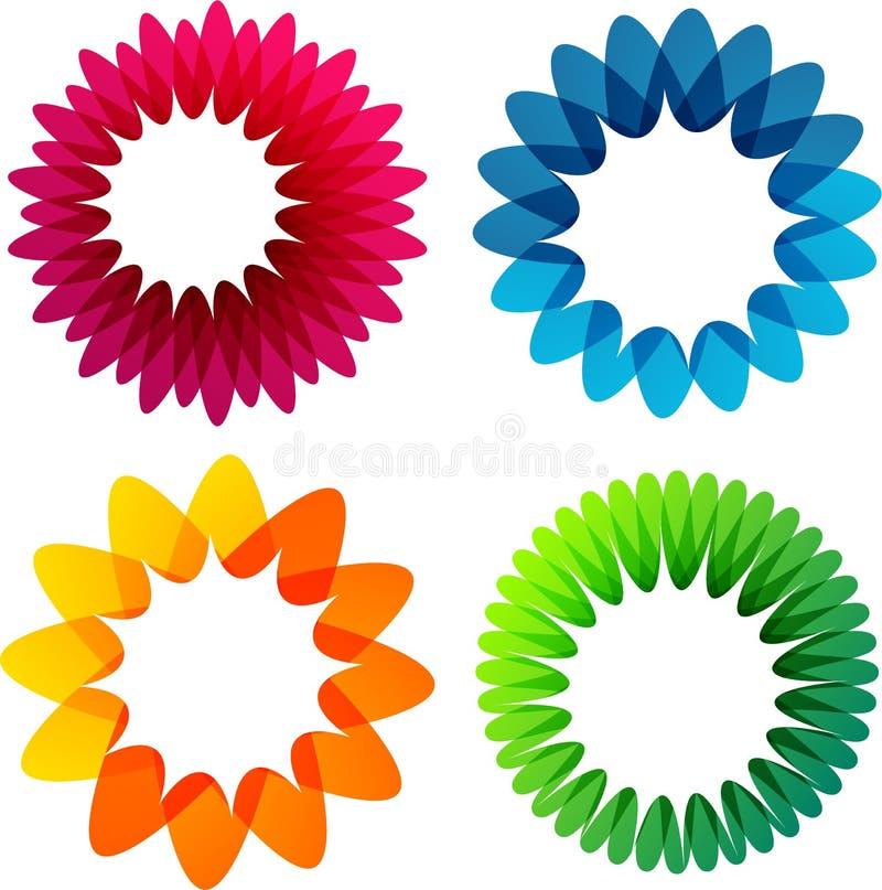 Milieux colorés de fleur d'été. illustration de vecteur