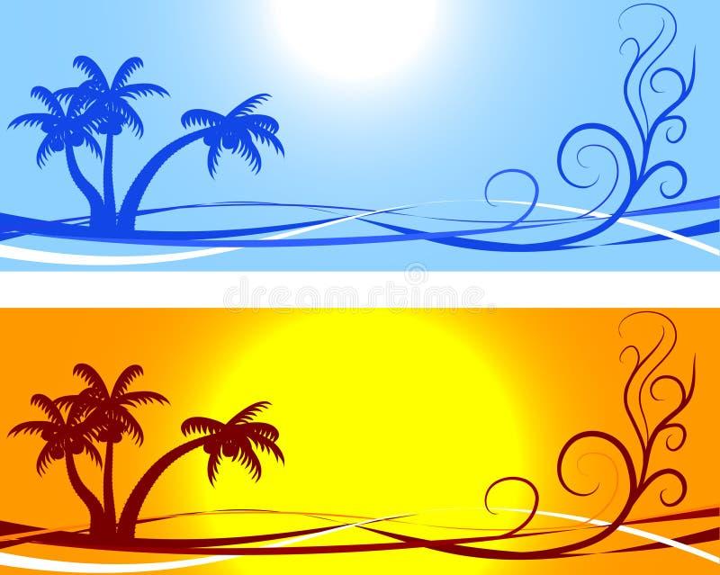 Milieux d'été. illustration stock