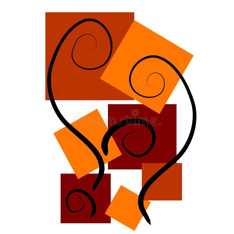 Milieux d'art abstrait rouges illustration de vecteur