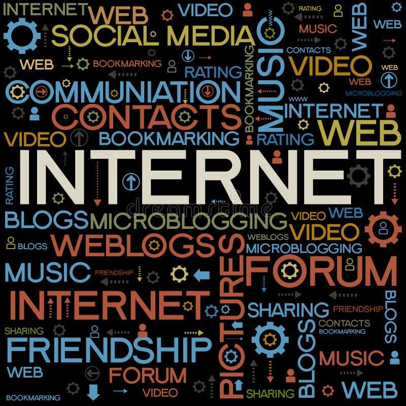 Milieux d'Internet avec les mots illustration stock