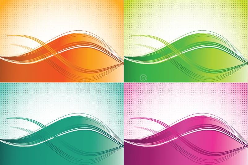 Milieux d'onde de couleur illustration de vecteur