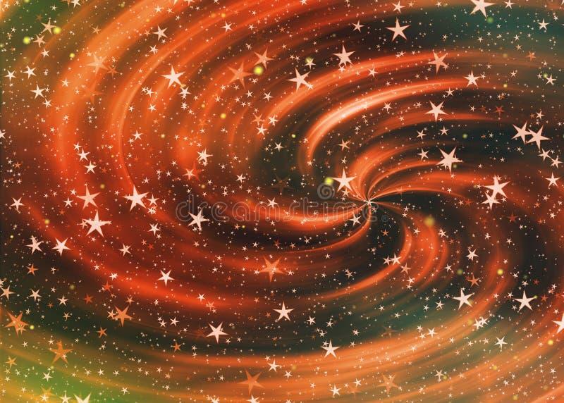Milieux de ciel de cosmos avec beaucoup d'étoiles rêveuses illustration de vecteur