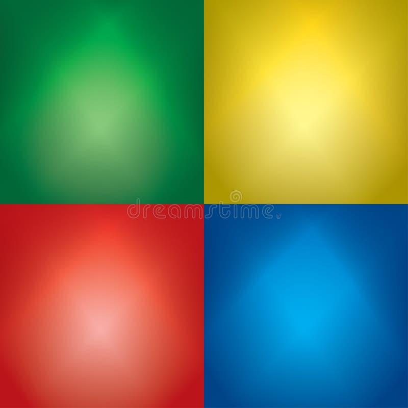 Milieux de couleur avec les faisceaux lumineux - ensemble de vecteur illustration stock