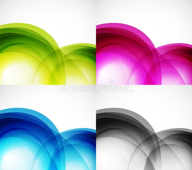 Milieux de couleur d'onde illustration stock