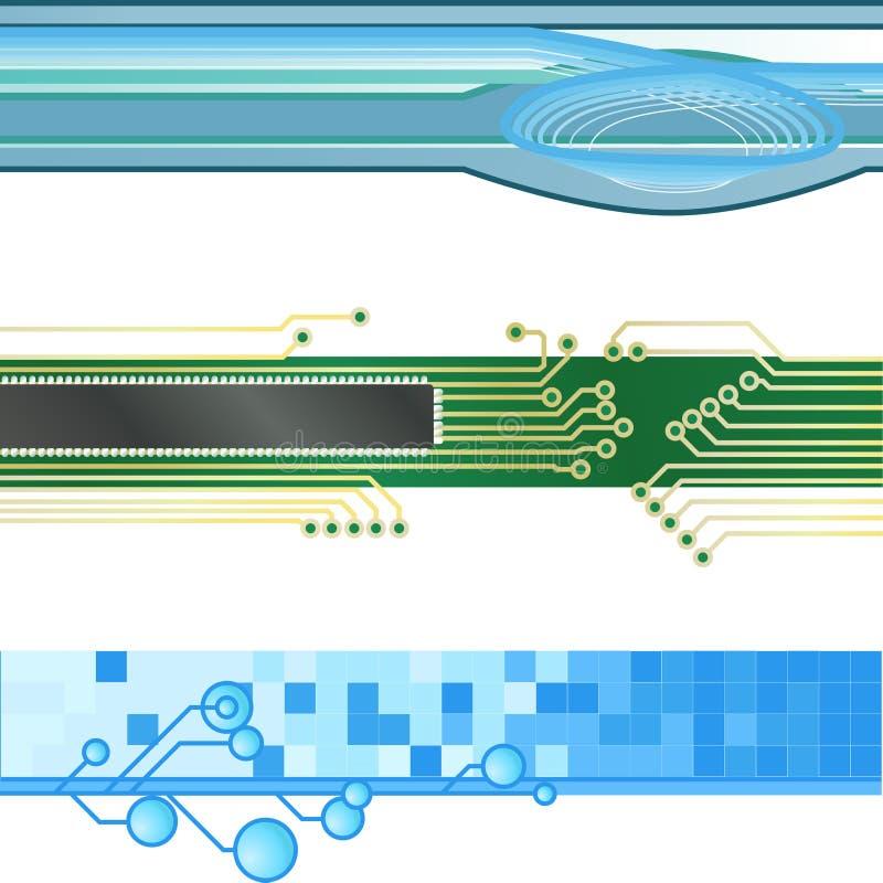Milieux de drapeau de site Web illustration de vecteur