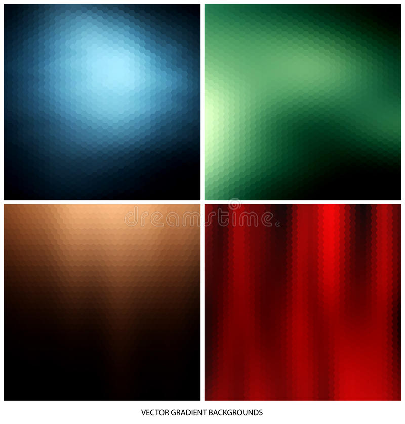 Milieux de gradient réglés illustration stock