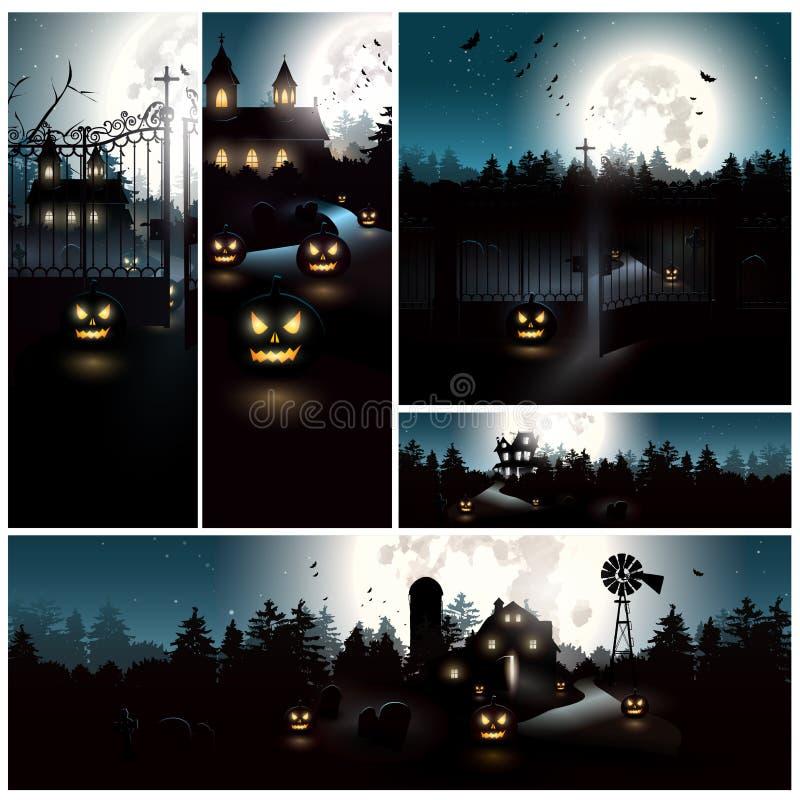Milieux de Halloween illustration stock