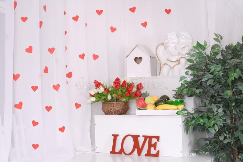 Milieux de jour de valentines image libre de droits