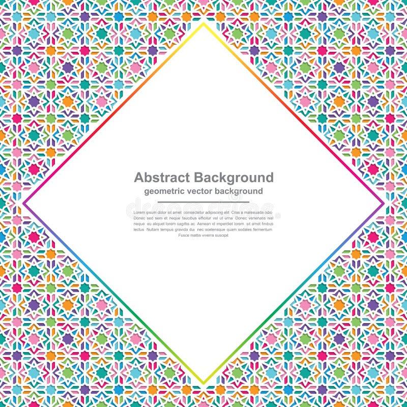 Milieux de la géométrie avec des combinaisons colorées modernes avec les espaces vides au milieu pour votre texte Fond du vecteur illustration de vecteur